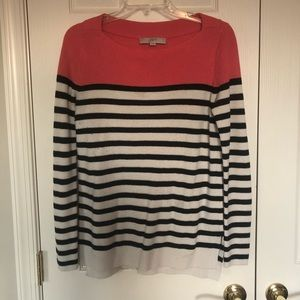 Colorblock / Stripe Boatneck Ribbed Sweater